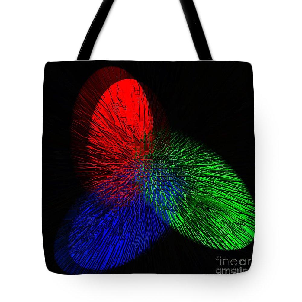 Digital Tote Bag featuring the digital art Santa Finger Prints by Donna Brown