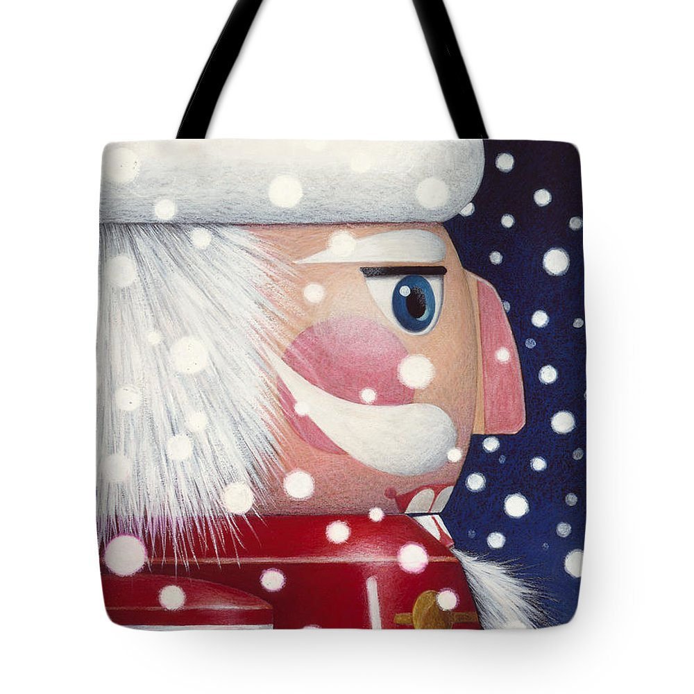 Santa Claus Tote Bag featuring the painting Santa Nutcracker by Lynn Bywaters