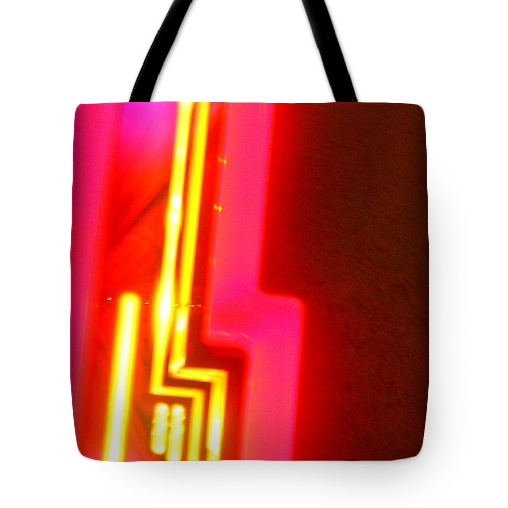 Abstract Tote Bag featuring the photograph Sante Fe by James Welch