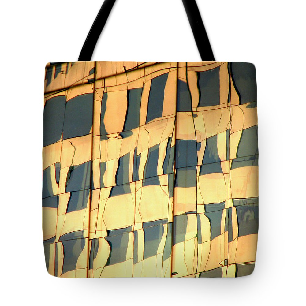 Abstract Tote Bag featuring the photograph Santiago Reflection II by Rick Locke