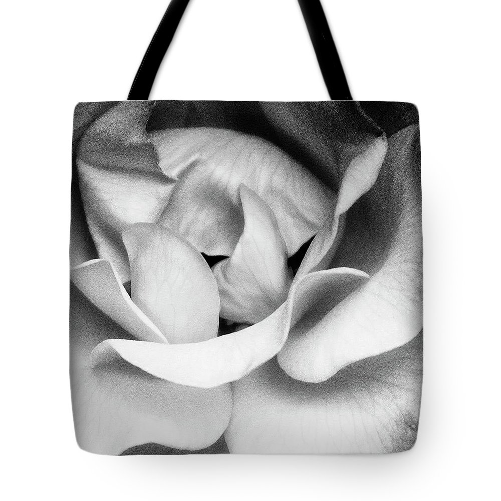 Rose Tote Bag featuring the photograph Sapphire Rose Bw Palm Springs by William Dey