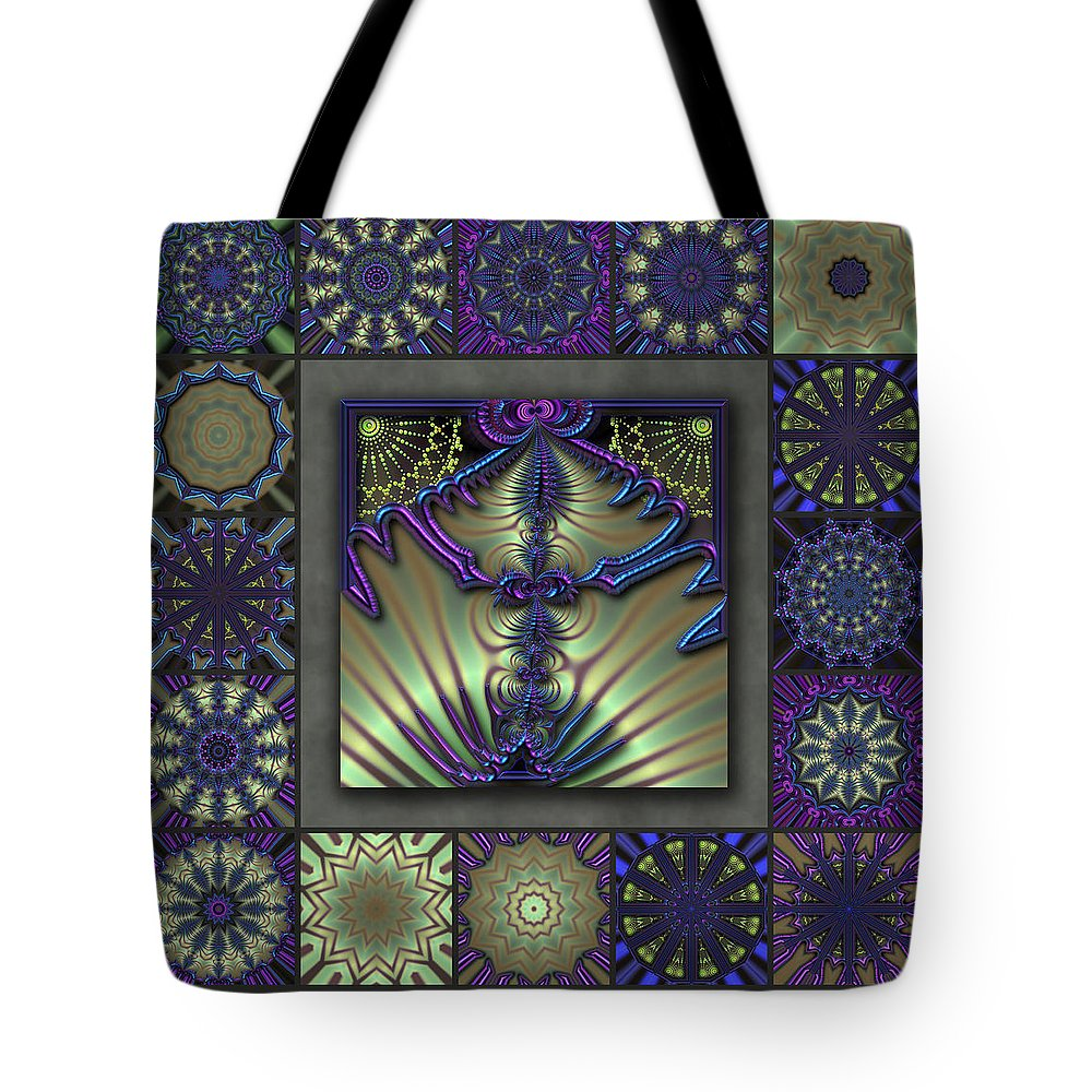 Blue Tote Bag featuring the digital art Sapphire Wind Redux by Ann Stretton