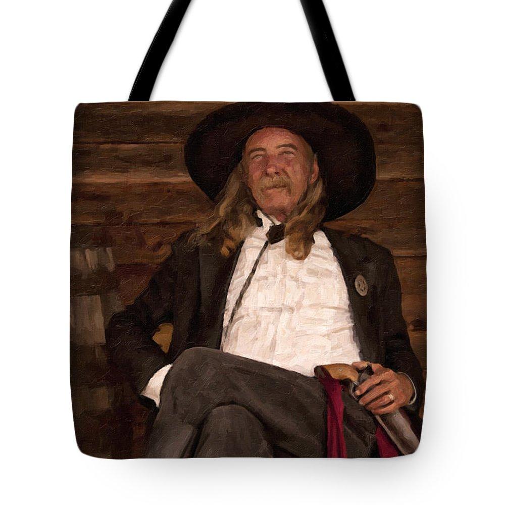 Cowboy Tote Bag featuring the digital art Sash by Jack Milchanowski