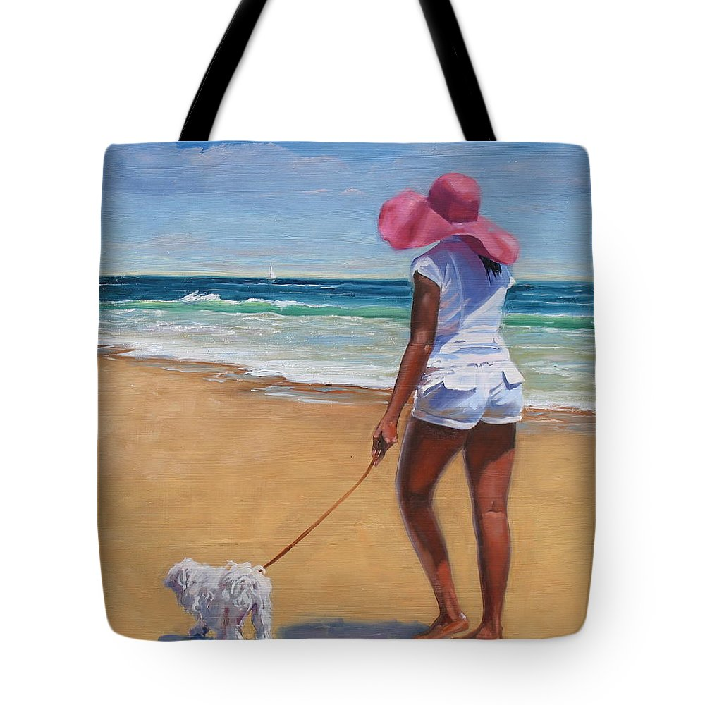 Seascape Tote Bag featuring the painting Sassy by Laura Lee Zanghetti