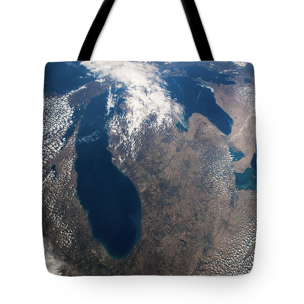 Photography Tote Bag featuring the photograph Satellite View Of Great Lakes by Panoramic Images