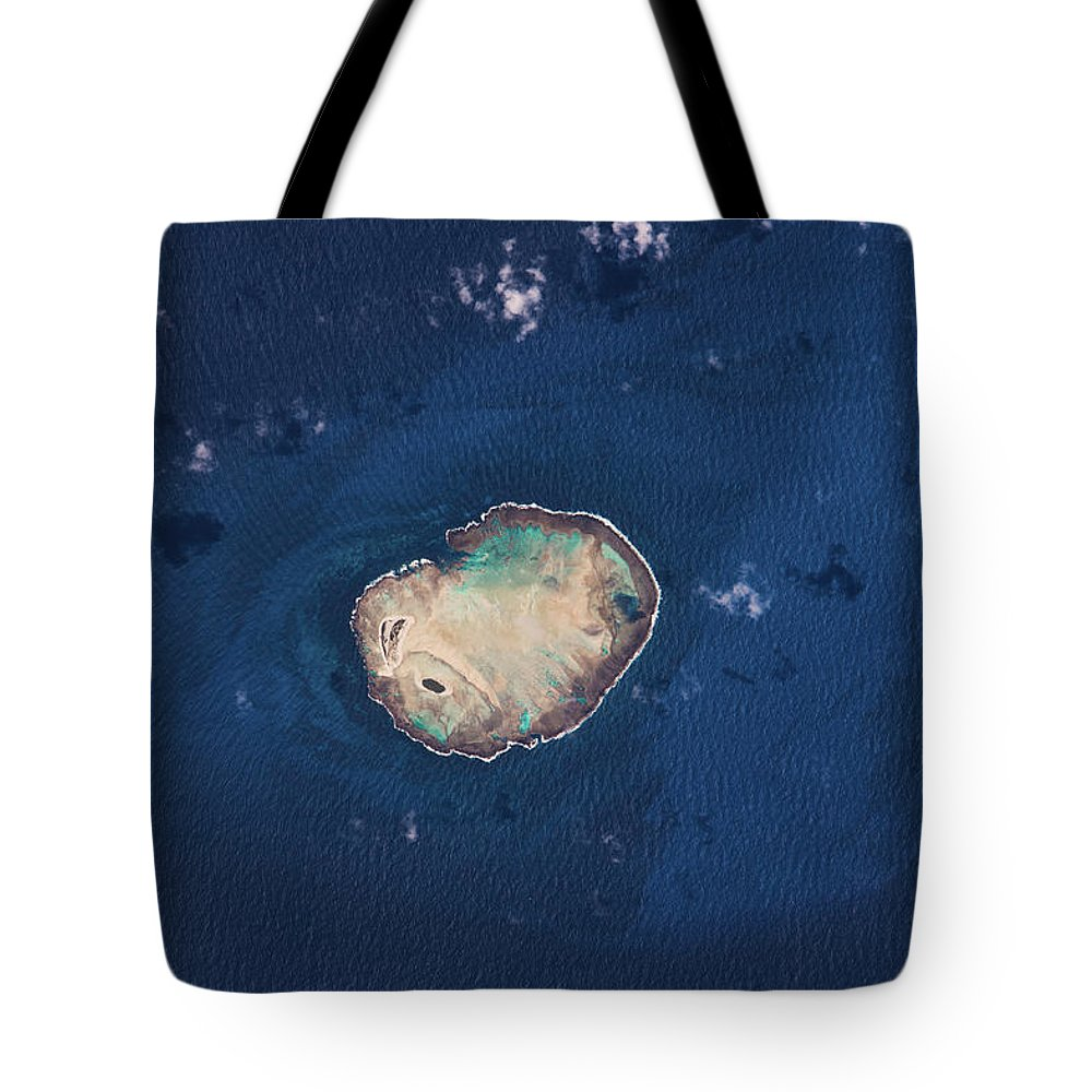 Photography Tote Bag featuring the photograph Satellite View Of Rocas Atoll In South by Panoramic Images