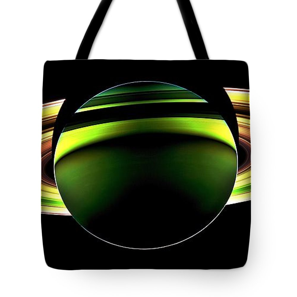 Saturn Tote Bag featuring the photograph Saturn Shadow by Benjamin Yeager