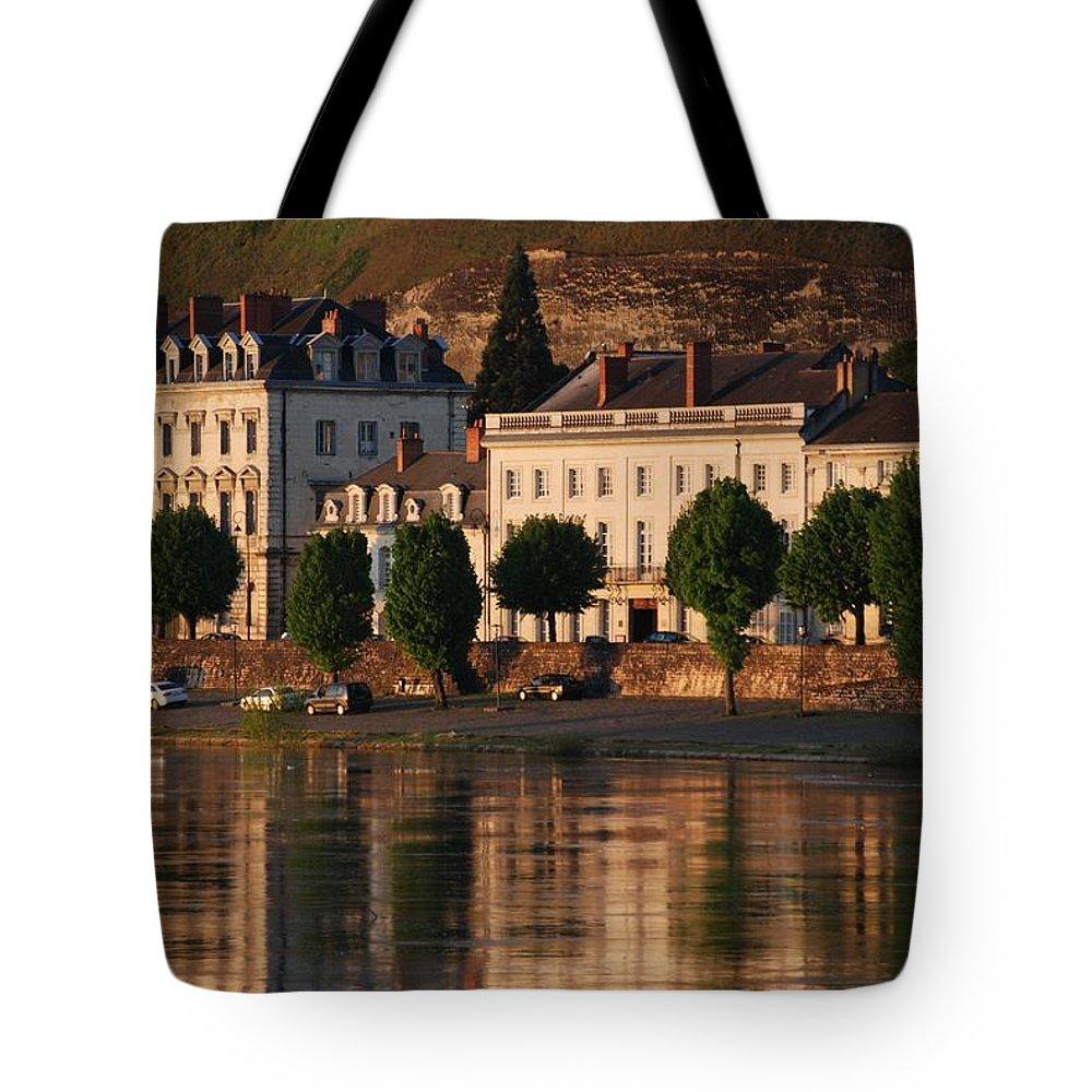 Saumur Tote Bag featuring the photograph Saumur Reflected by Eric Tressler