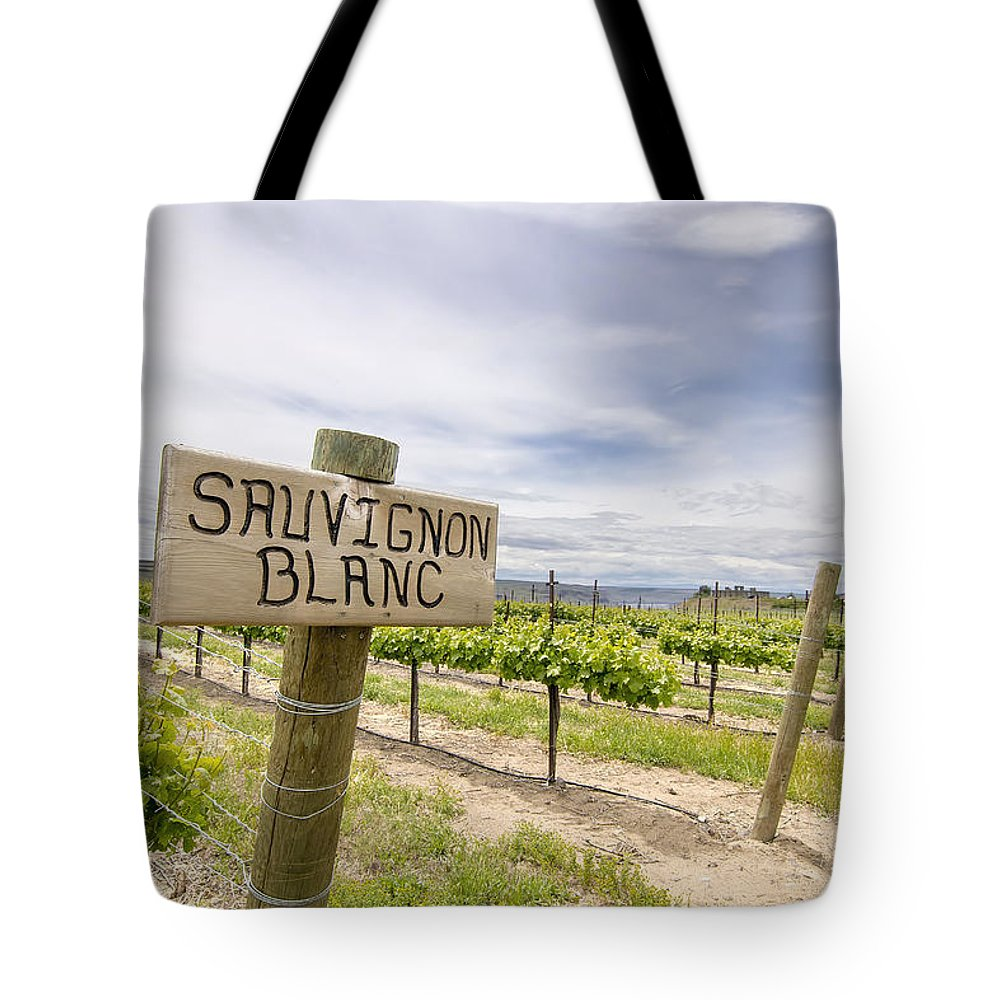 Sauvignon Tote Bag featuring the photograph Sauvignon Blanc Grapes Growing In Vineyard by Jit Lim