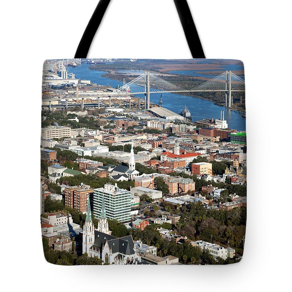 Talmadge Tote Bag featuring the photograph Savannah Georgia by Bill Cobb