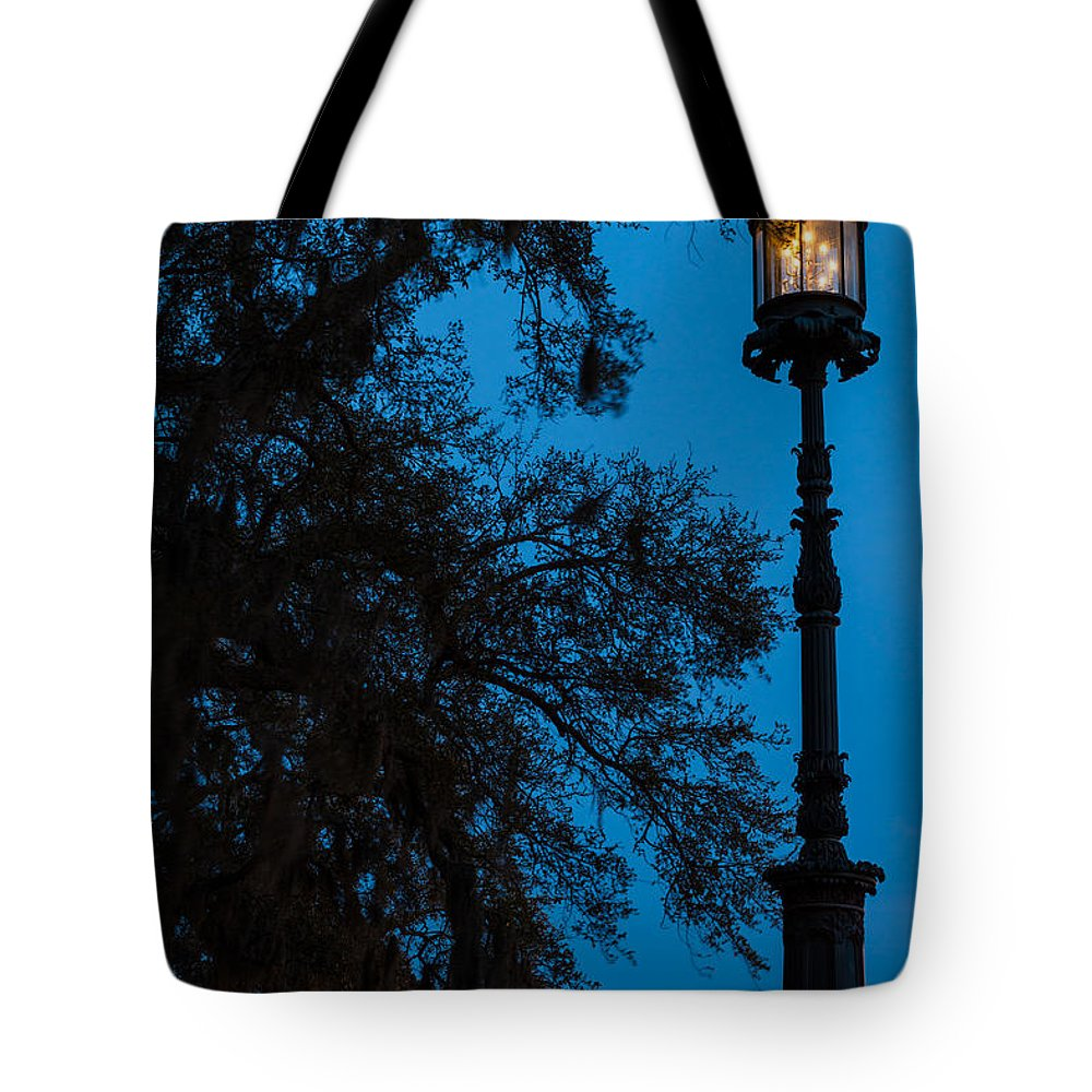 Savannah Tote Bag featuring the photograph Savannah Harbor Light Savannah Georgia by Dawna Moore Photography