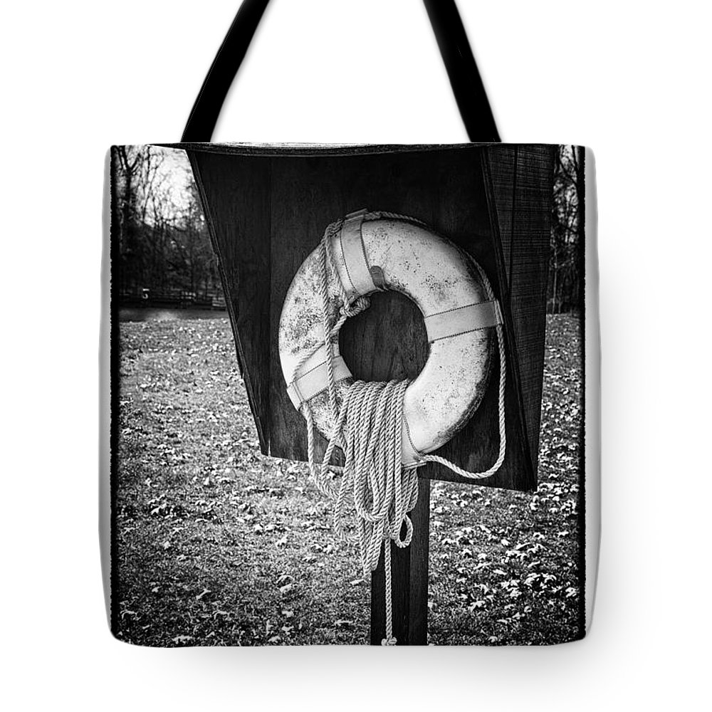 Grunge Tote Bag featuring the photograph Save Me - Art Unexpected by Tom Mc Nemar