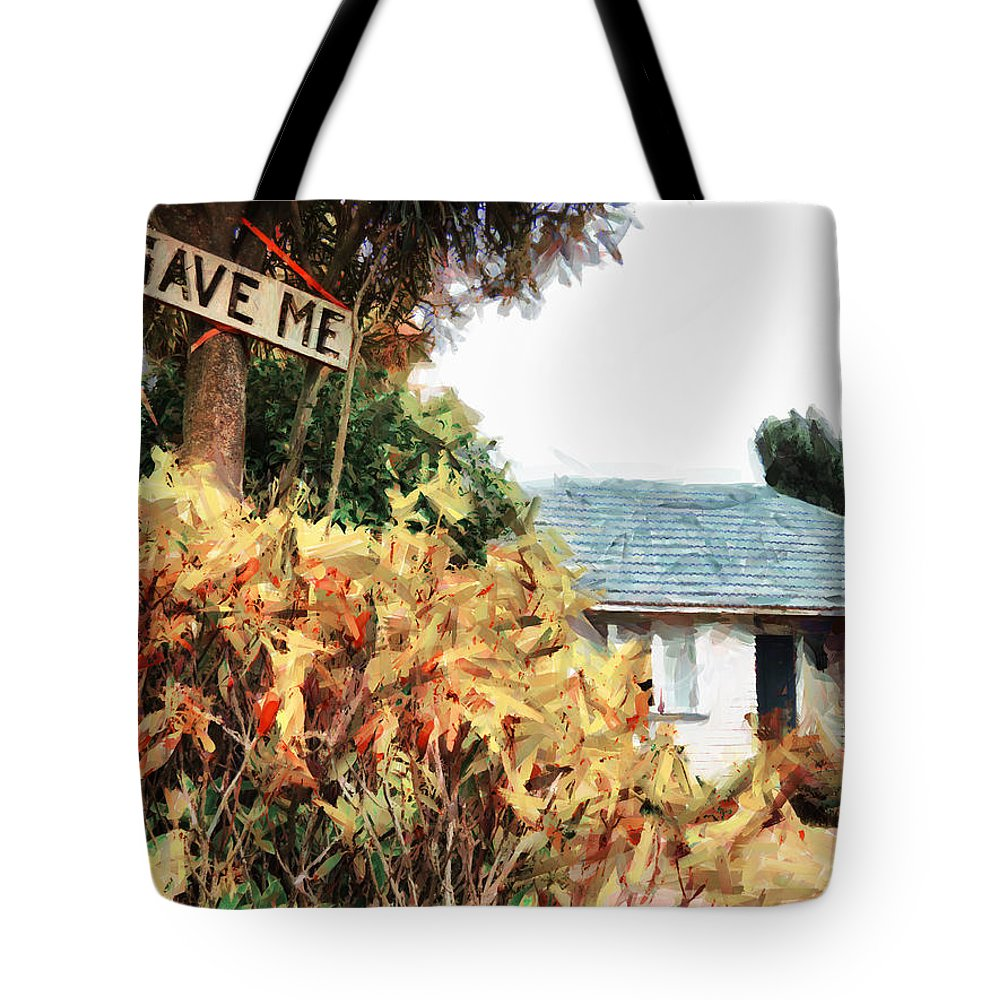 Earthquake Tote Bag featuring the digital art Save Me by Steve Taylor