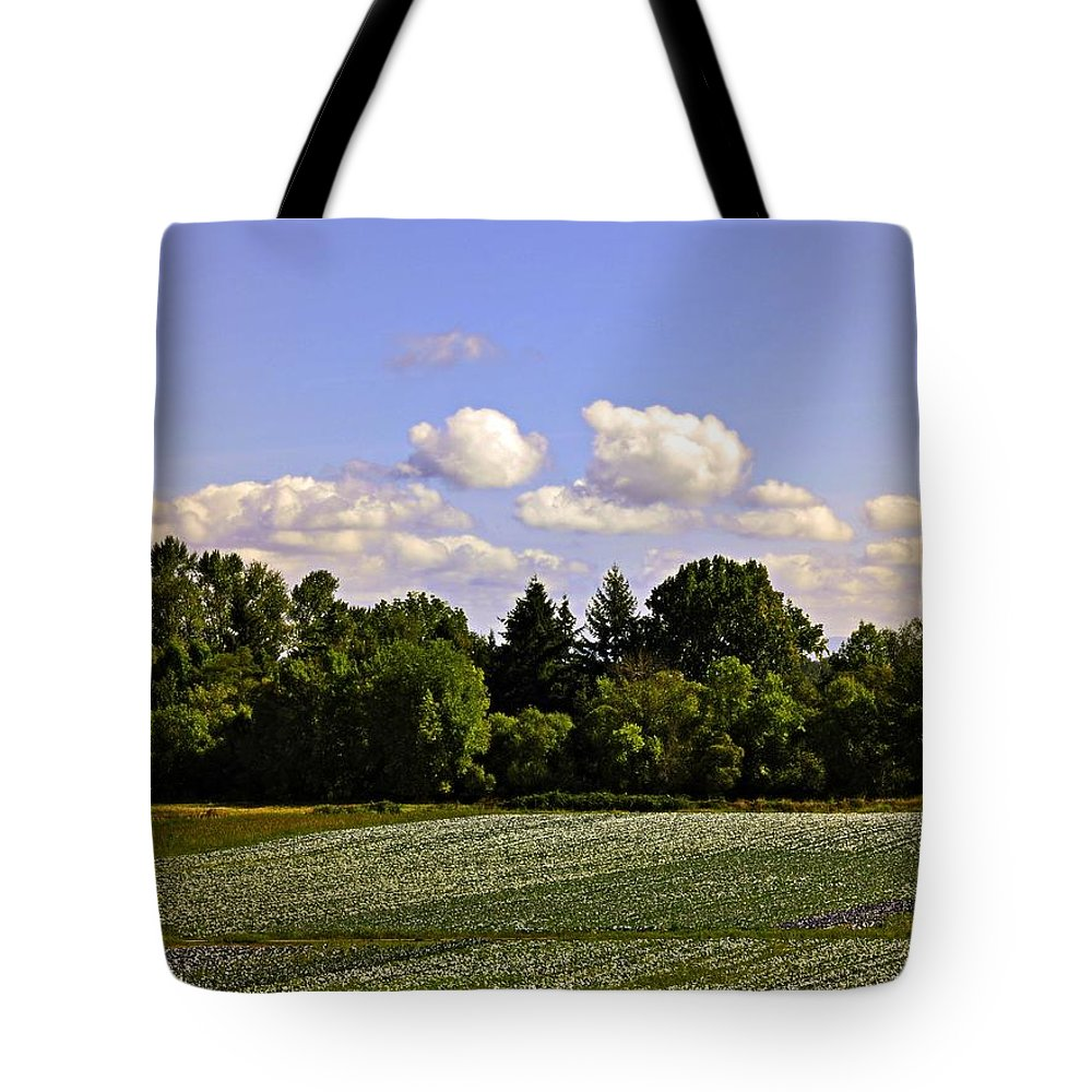Sauvie Island Tote Bag featuring the photograph Savie Island Flower Garden by Image Takers Photography LLC - Carol Haddon