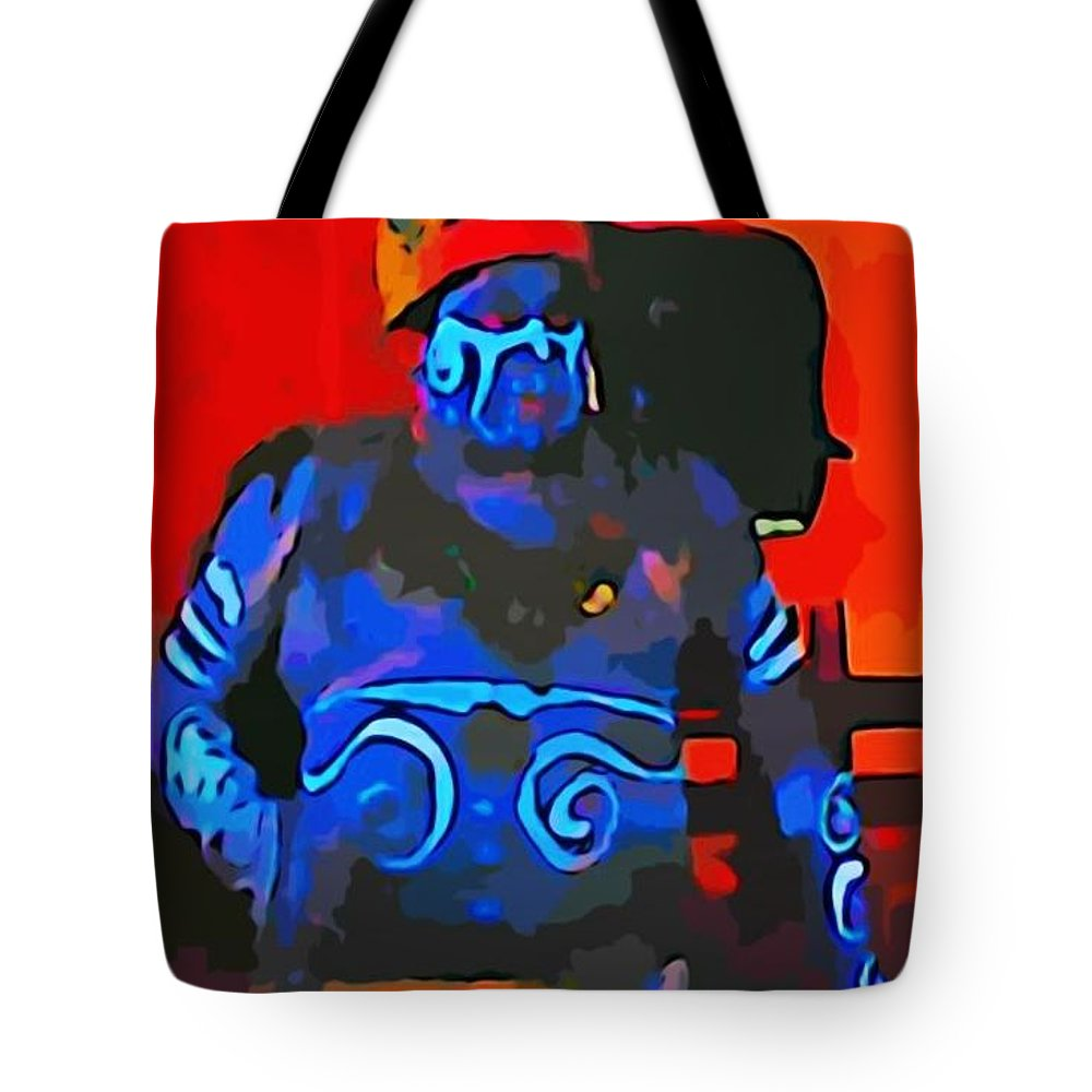 Scary Fella Tote Bag featuring the photograph Scary Fella by John Malone