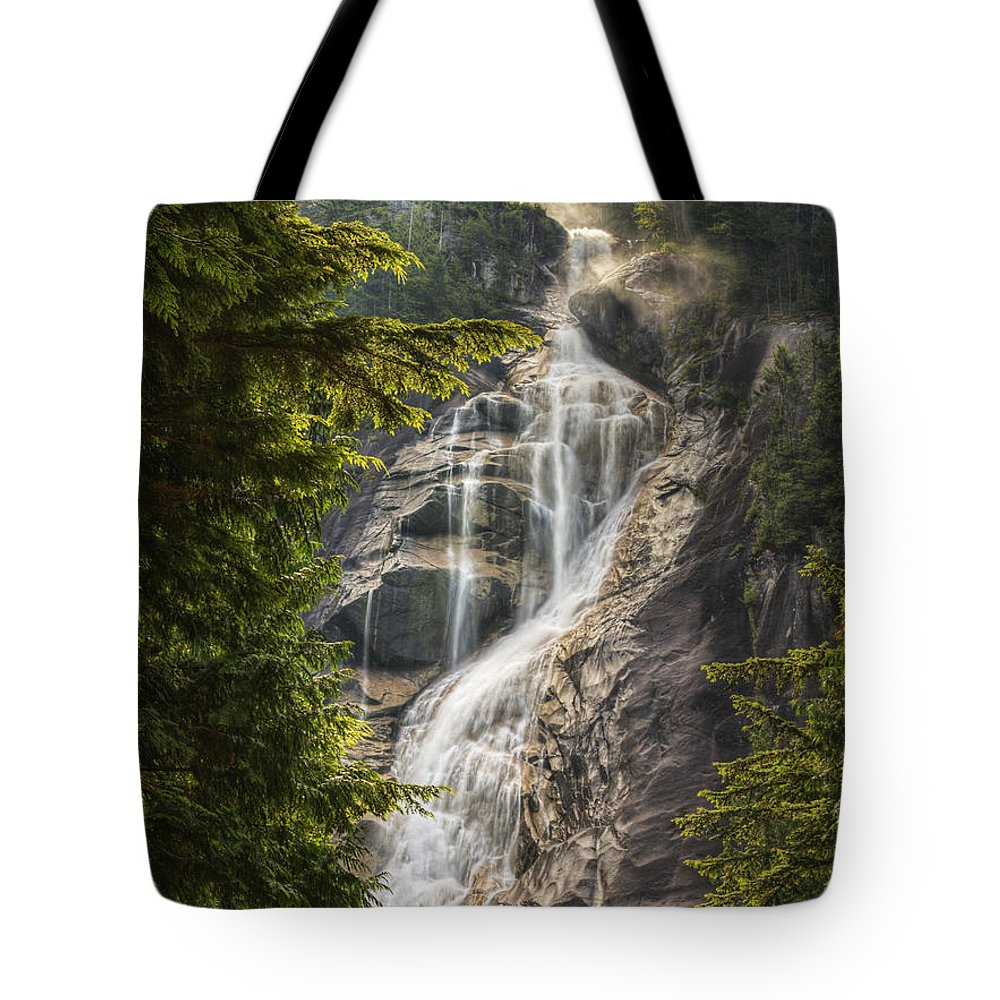 British Columbia Tote Bag featuring the photograph Scenic Of Shannon Fallsbritish Columbia by Robert Postma