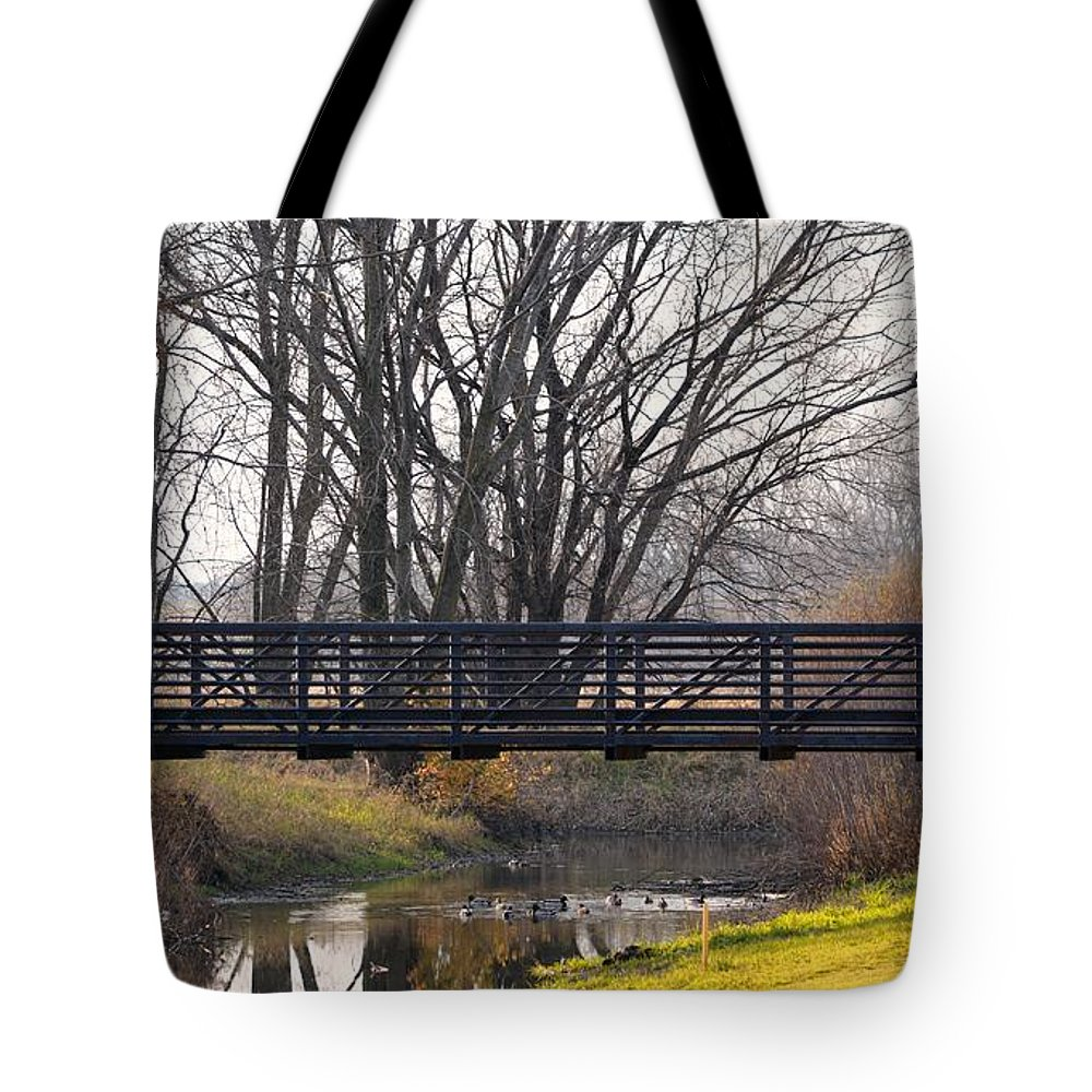 Reflections Tote Bag featuring the photograph Scenic View In Madison Wisconsin by Karen Majkrzak