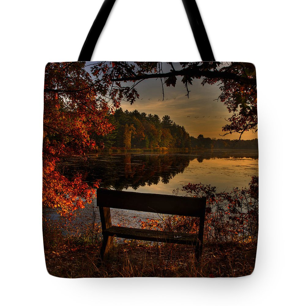 Scenic View Tote Bag featuring the photograph Scenic View by Thomas Young