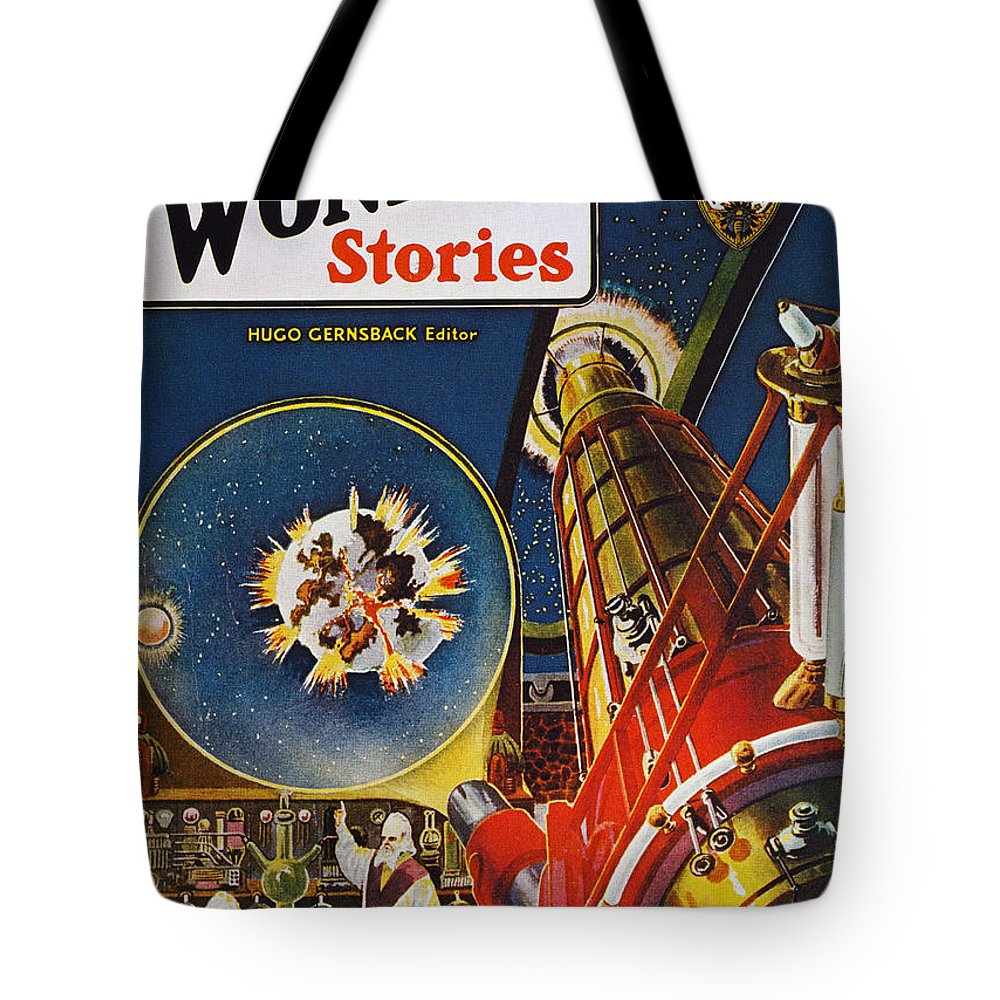 1930 Tote Bag featuring the photograph Sci-fi Magazine Cover, 1930 by Granger