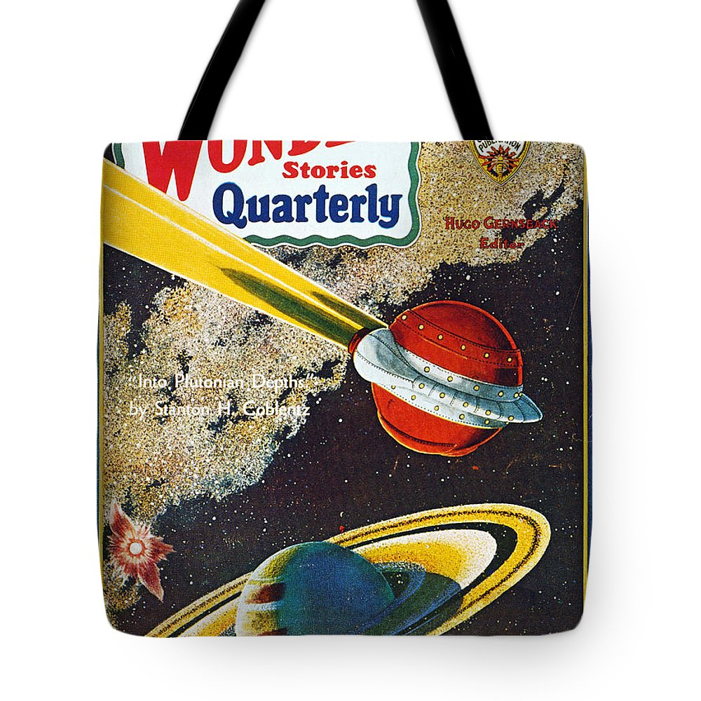 1931 Tote Bag featuring the photograph Science Fiction Cover, 1931 by Granger