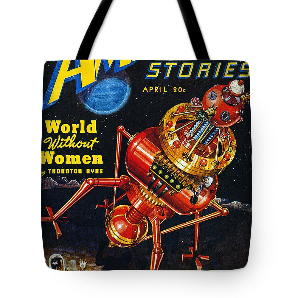 1939 Tote Bag featuring the photograph Science Fiction Cover, 1939 by Granger