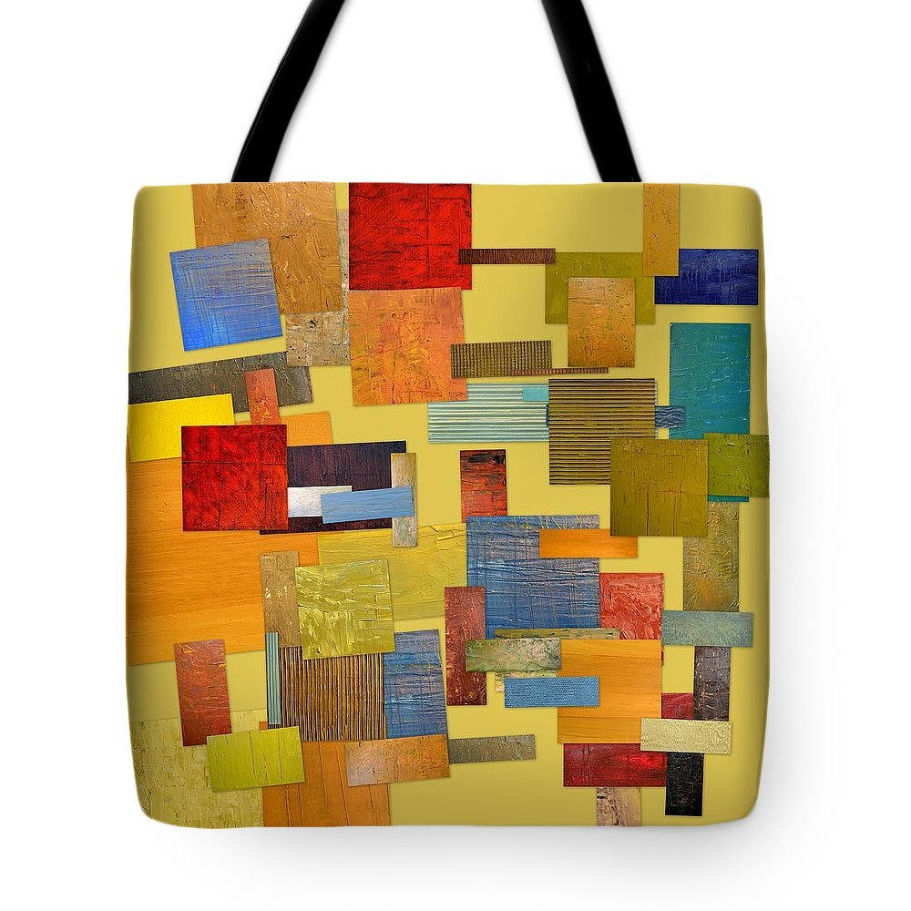 Textural Tote Bag featuring the painting Scrambled Eggs Lll by Michelle Calkins