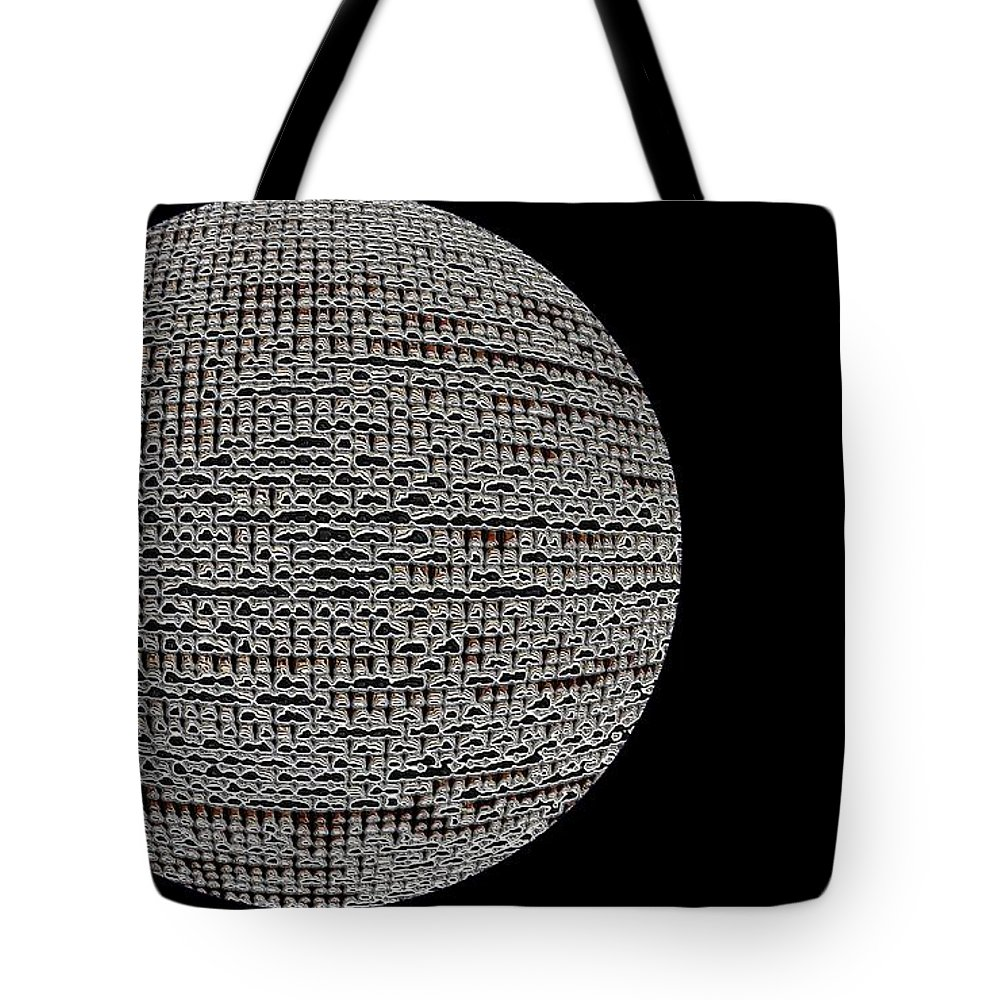 Window Tote Bag featuring the photograph Screen Orb-06 by Larry Jost