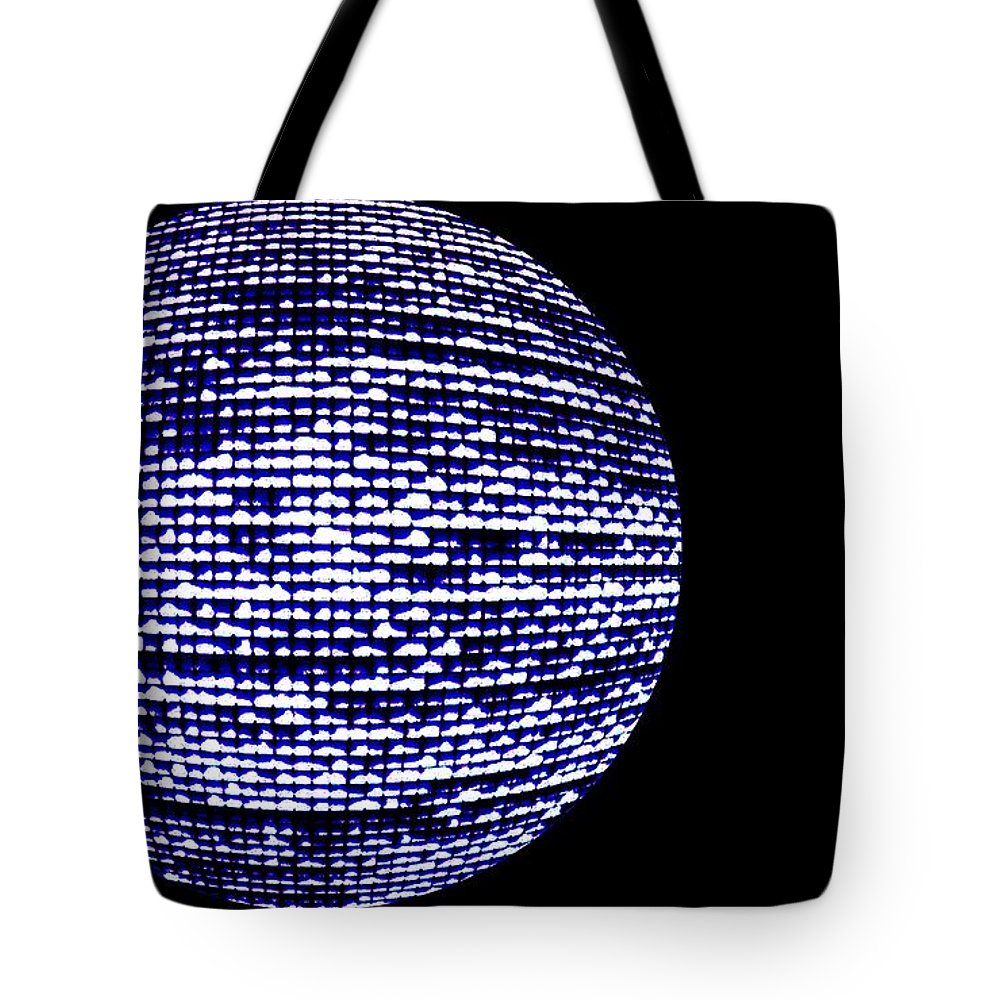 Window Tote Bag featuring the photograph Screen Orb-11 by Larry Jost