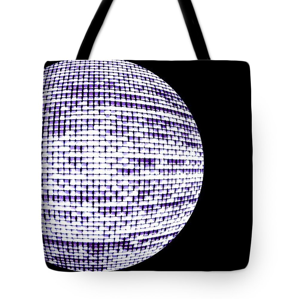 Window Tote Bag featuring the photograph Screen Orb-12 by Larry Jost