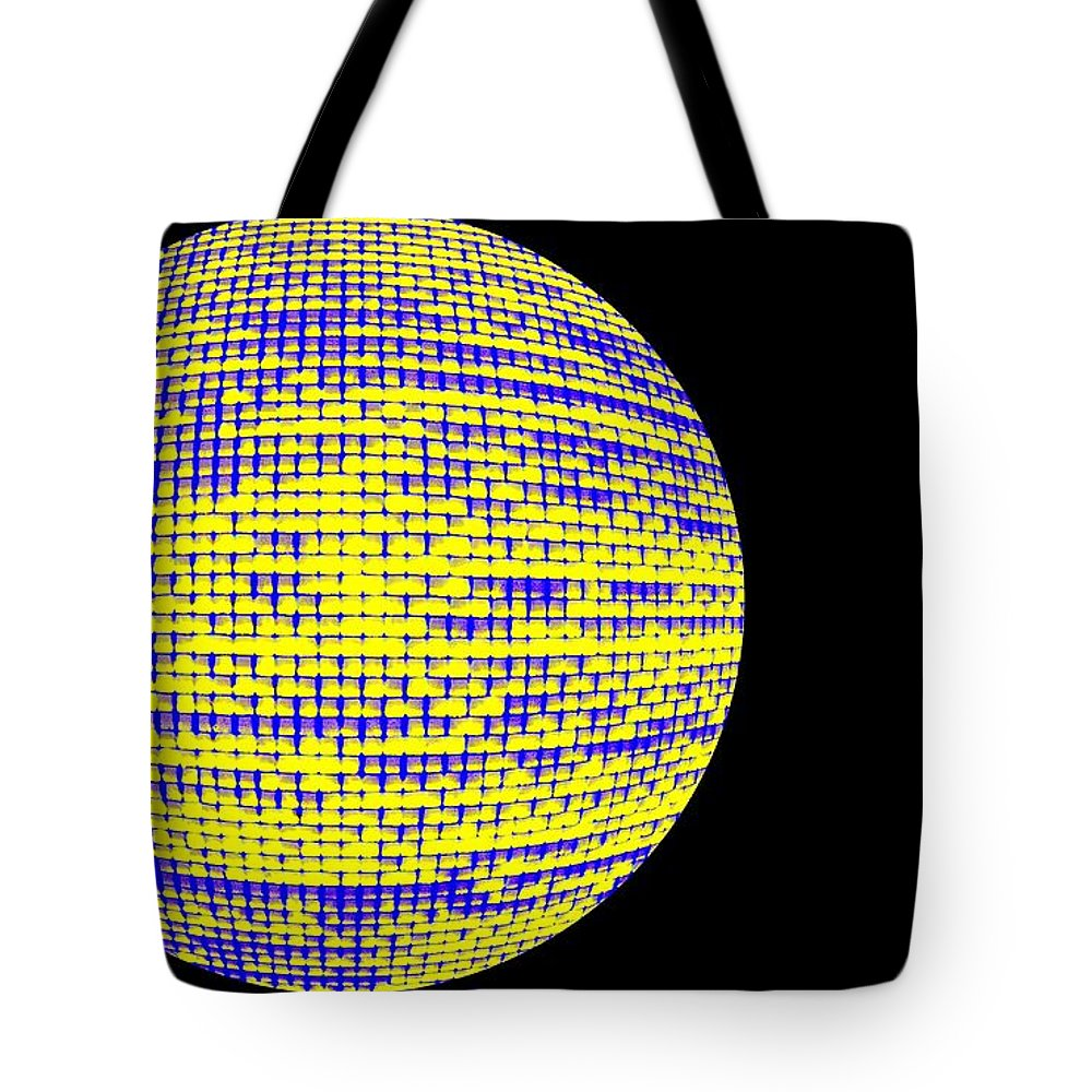 Window Tote Bag featuring the photograph Screen Orb-13 by Larry Jost