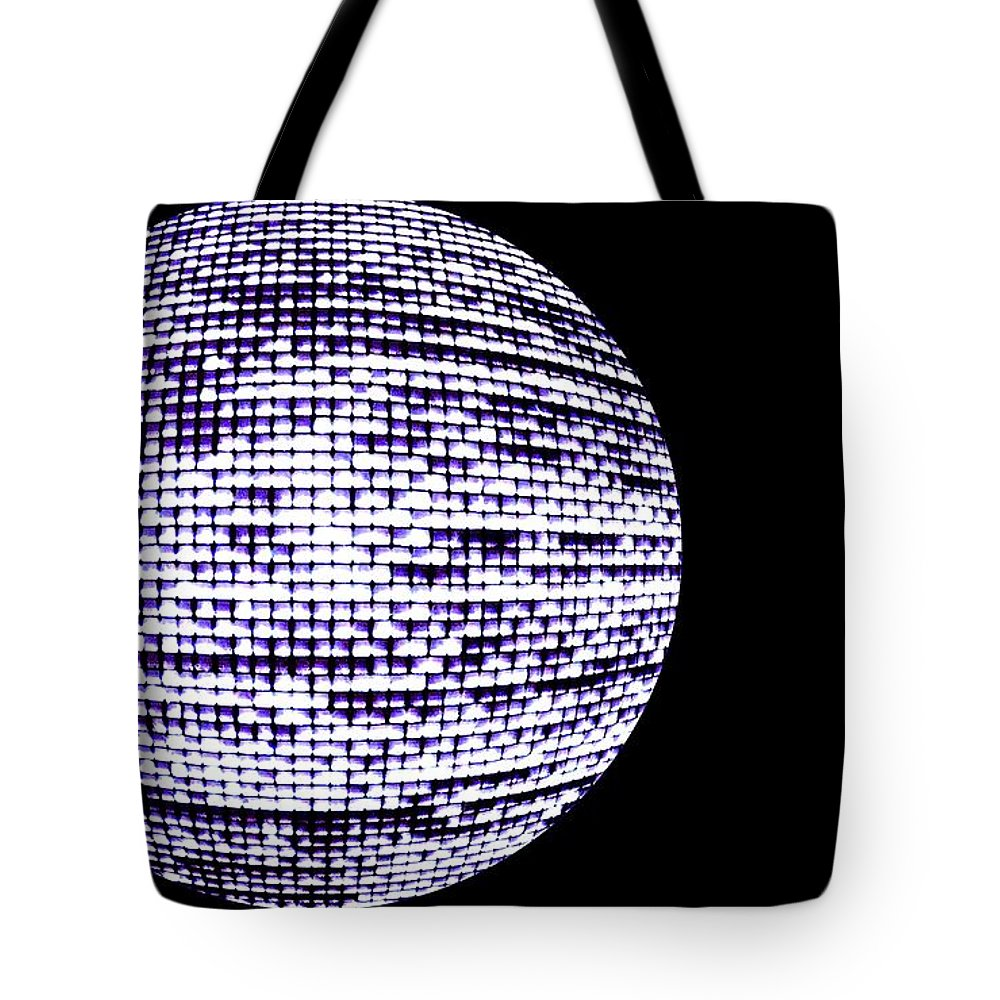 Window Tote Bag featuring the photograph Screen Orb-15 by Larry Jost