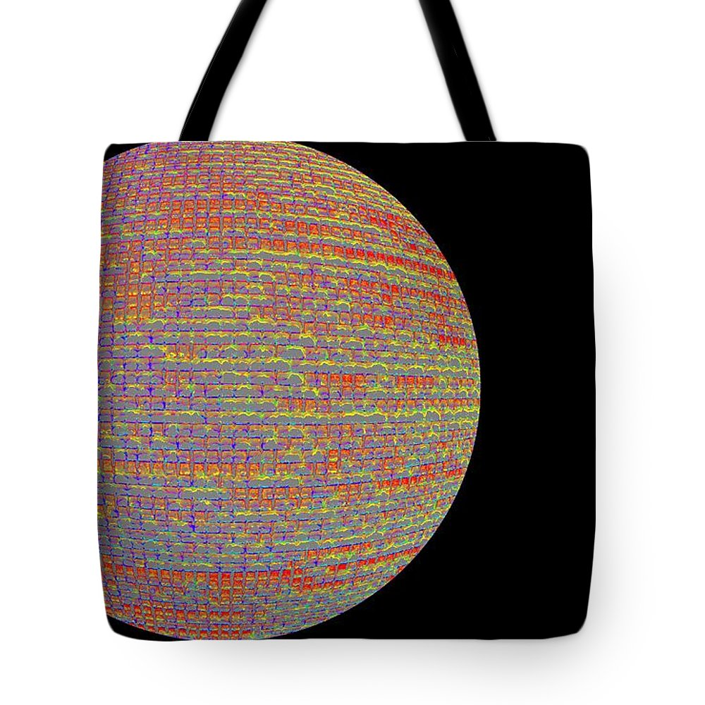 Window Tote Bag featuring the photograph Screen Orb-17 by Larry Jost