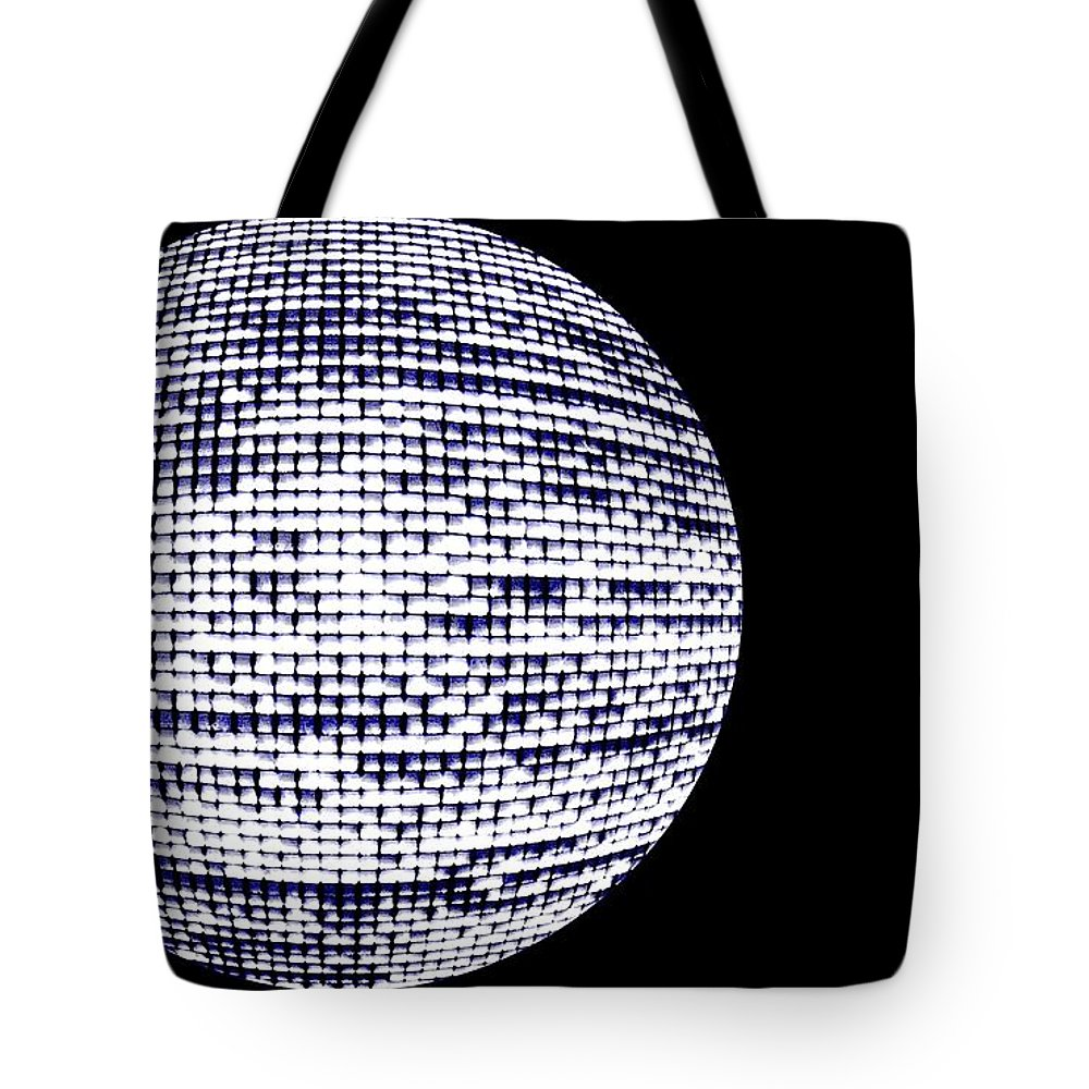 Window Tote Bag featuring the photograph Screen Orb-20 by Larry Jost