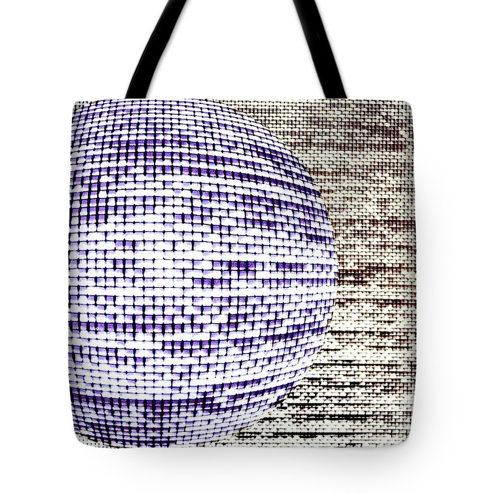 Window Tote Bag featuring the photograph Screen Orb-24 by Larry Jost