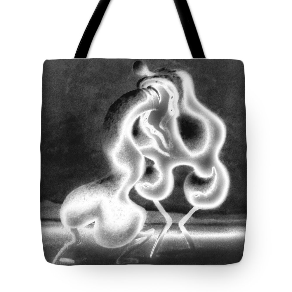 Genio Tote Bag featuring the mixed media Sculpture Of Love by Genio GgXpress