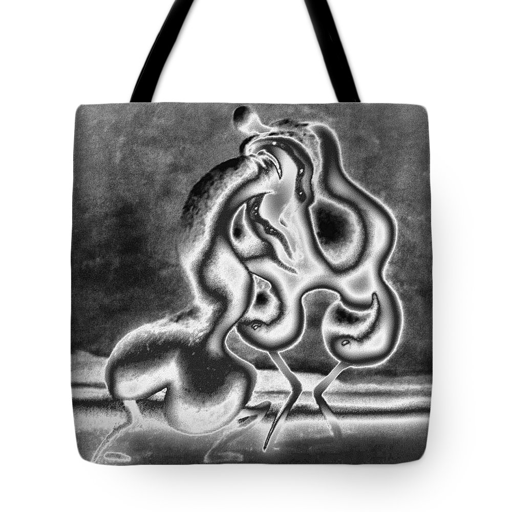 Genio Tote Bag featuring the mixed media Sculpture Of Passion by Genio GgXpress