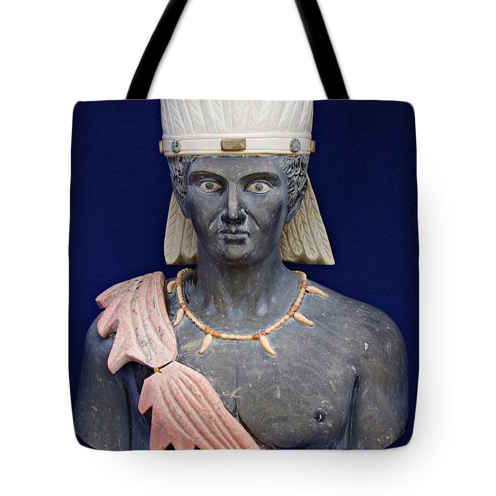 Statue Tote Bag featuring the photograph Sculptures by Gabi Siebenhuehner