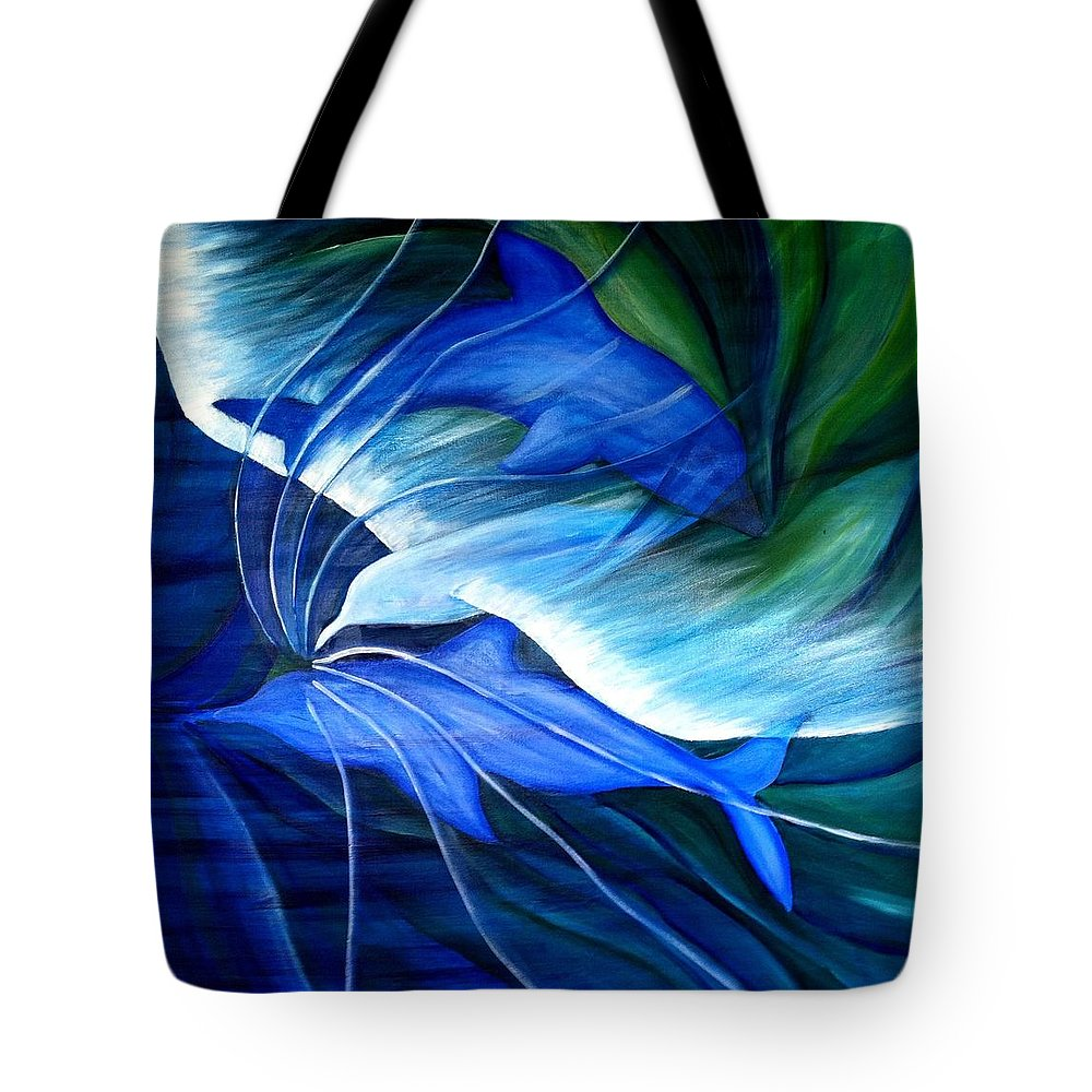 Birds Tote Bag featuring the painting Sea And Sky by Ellis Burgess