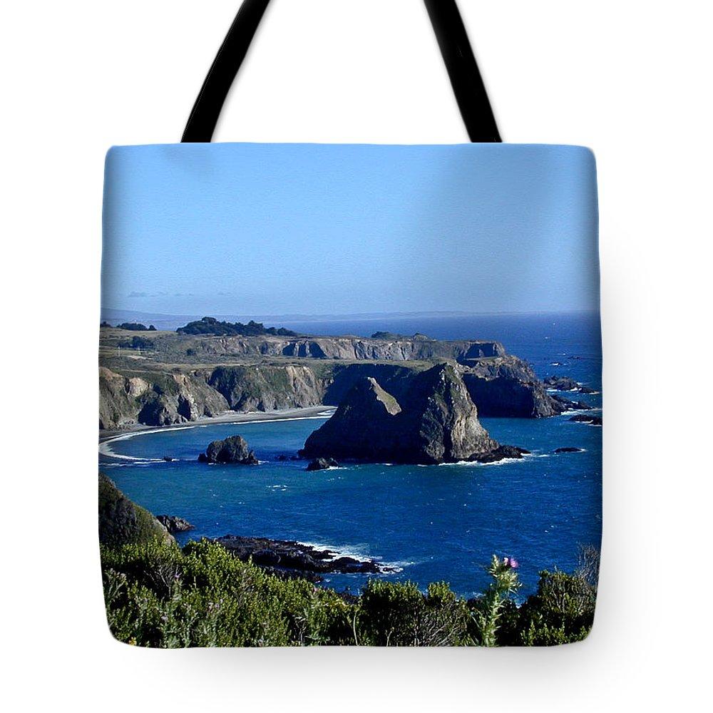 Sea Tote Bag featuring the photograph Sea Coast Of Northern California by Douglas Barnett