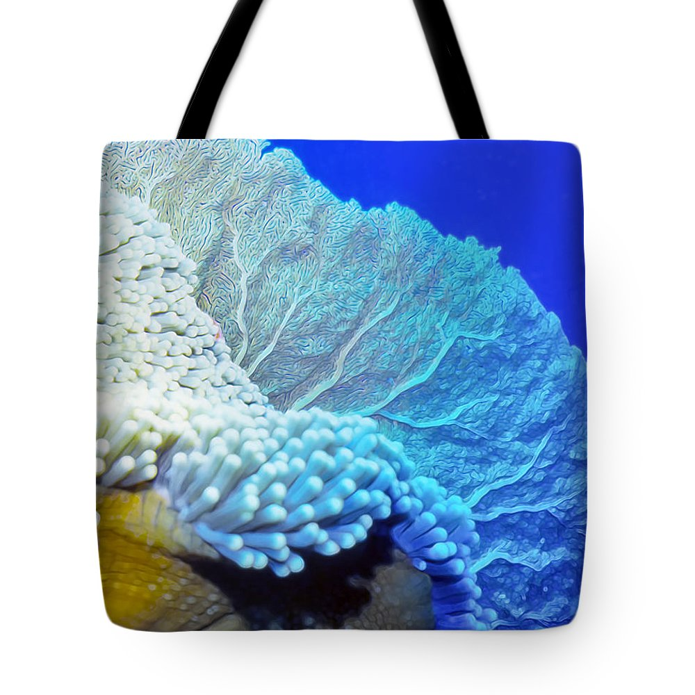 Micronesia Tote Bag featuring the photograph Sea Fans 7 by Dawn Eshelman