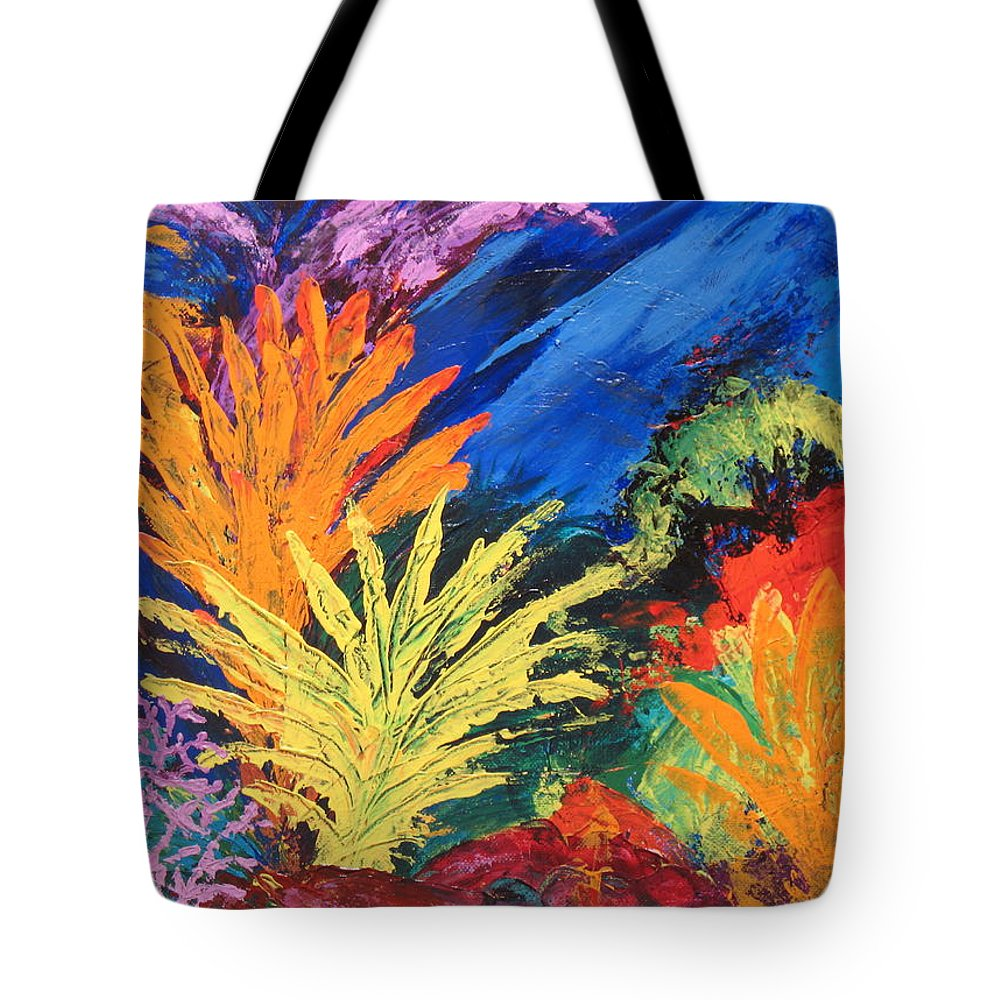Seascape Tote Bag featuring the painting Sea Garden by Jennifer Hillman