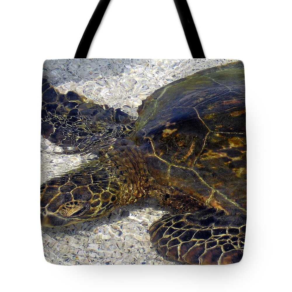 Turtle Tote Bag featuring the photograph Sea Life by Athala Bruckner