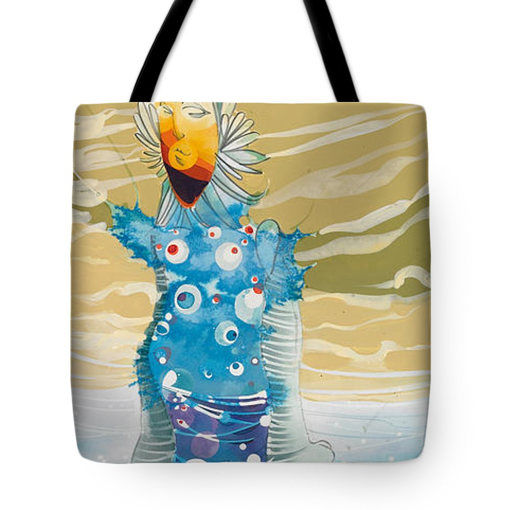 Fine Art Tote Bag featuring the painting Sea Man by Harry Holiday
