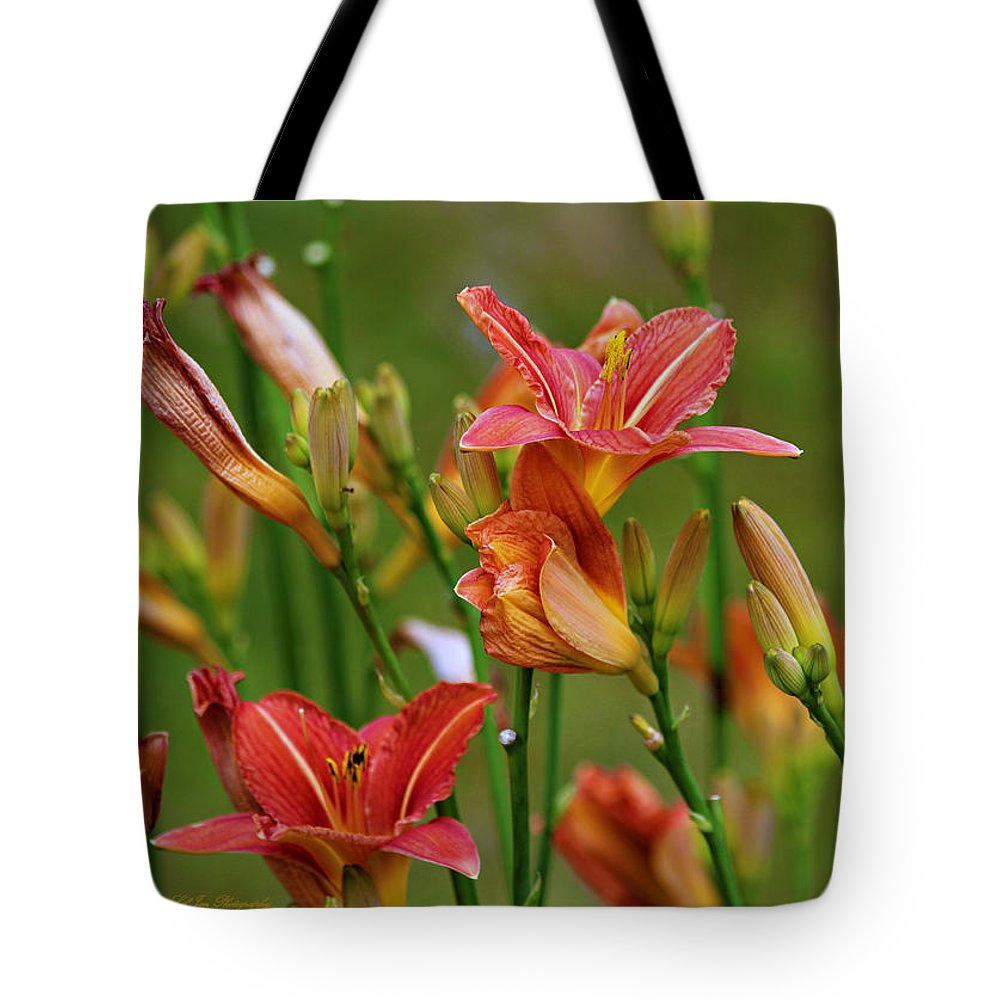 Lily Tote Bag featuring the photograph Sea Of Lilies by Jeanette C Landstrom