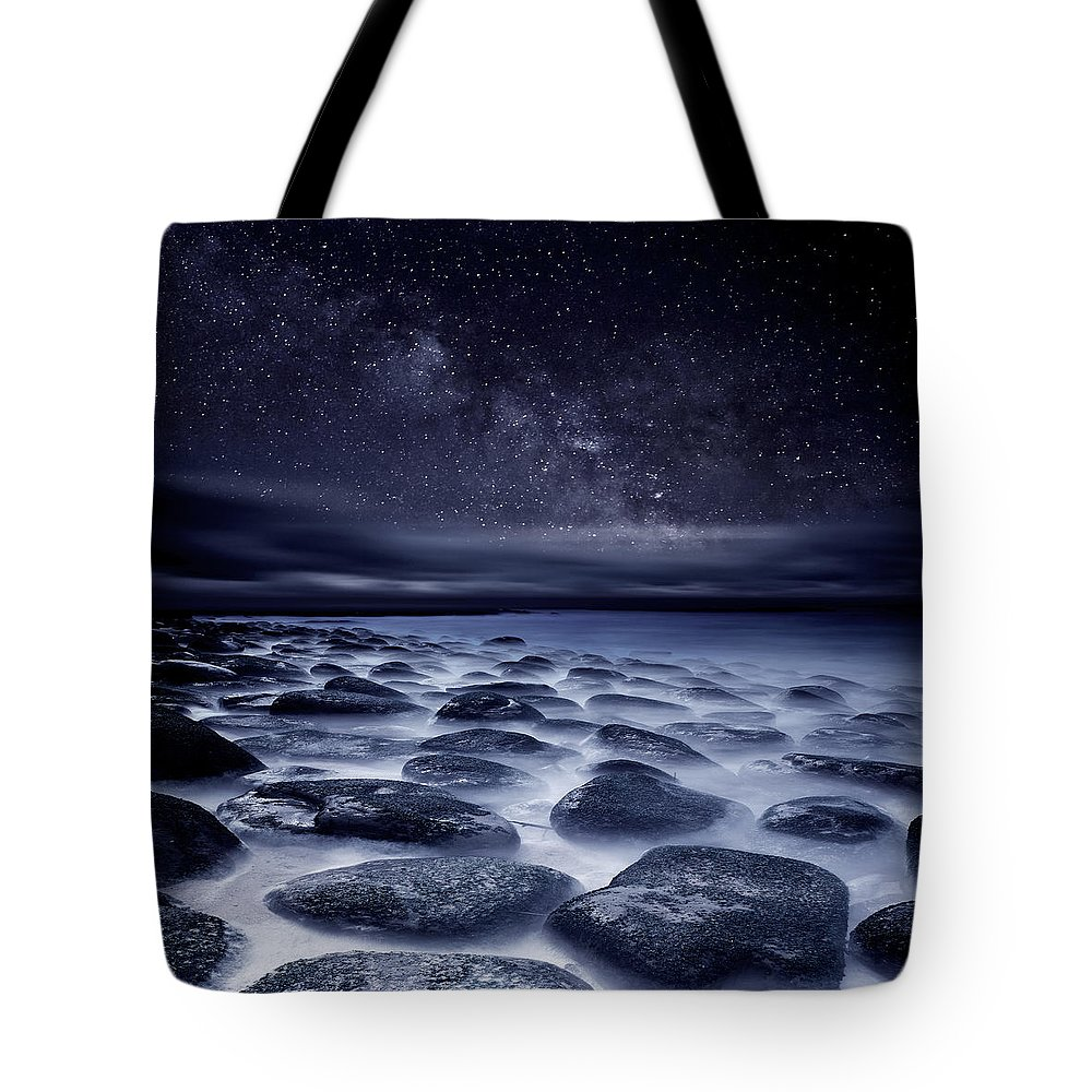Night Tote Bag featuring the photograph Sea of Tranquility by Jorge Maia