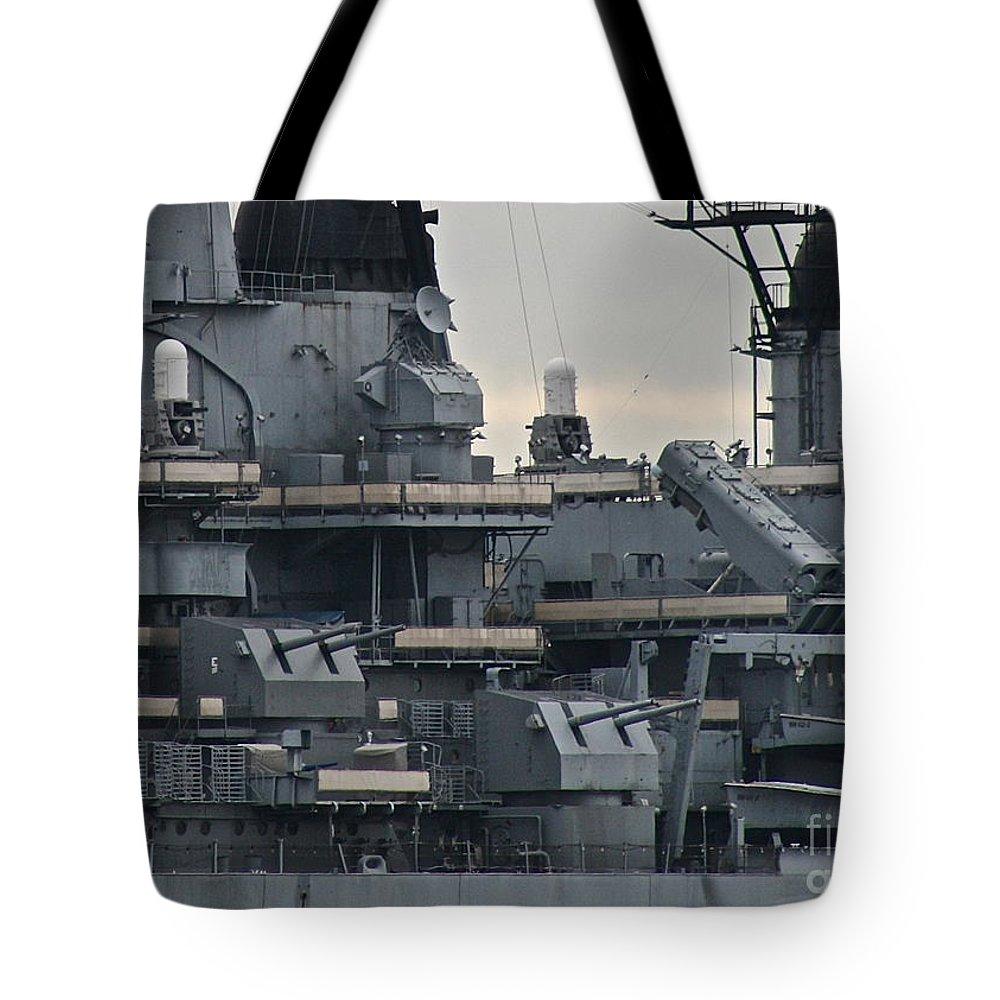 Gun Tote Bag featuring the photograph Sea Power by Rick Monyahan