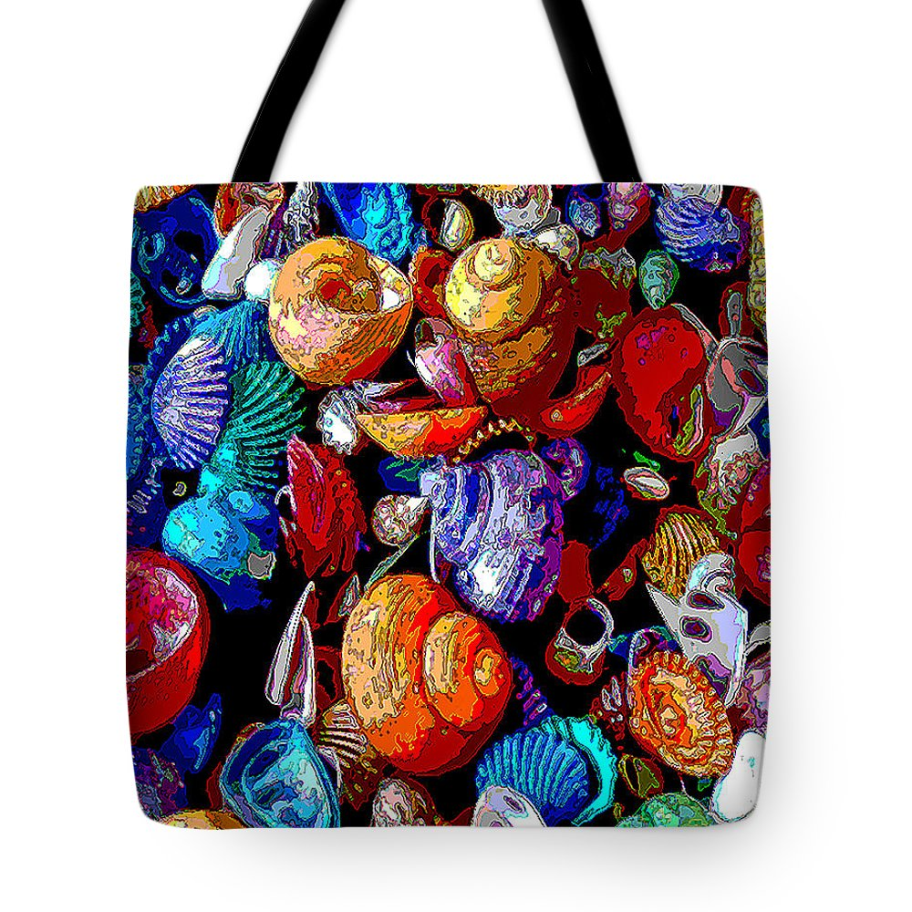 Sea Shell Tote Bag featuring the photograph Sea Shell Abstract by Jennifer Stackpole