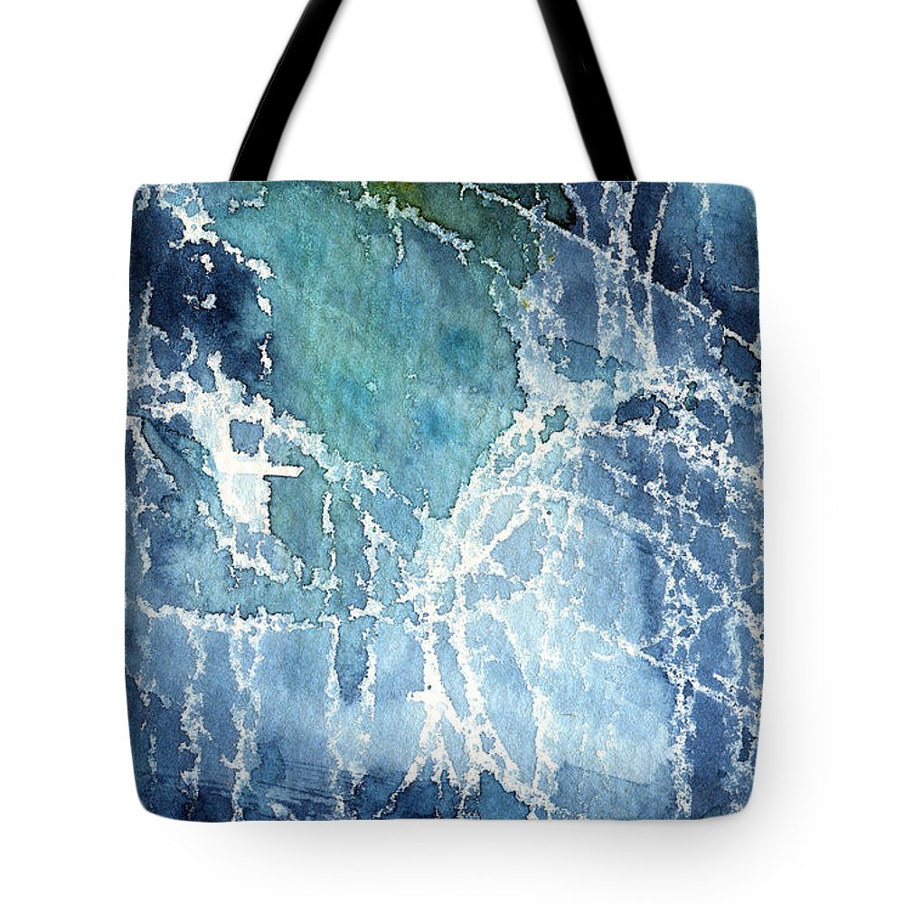 Abstract Painting Tote Bag featuring the painting Sea Spray by Linda Woods
