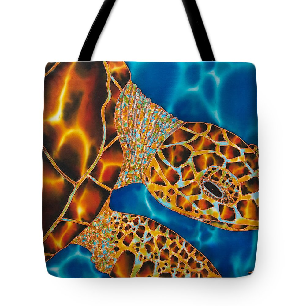 Sea Turtle Art Tote Bag featuring the painting Sea Turtle by Daniel Jean-Baptiste