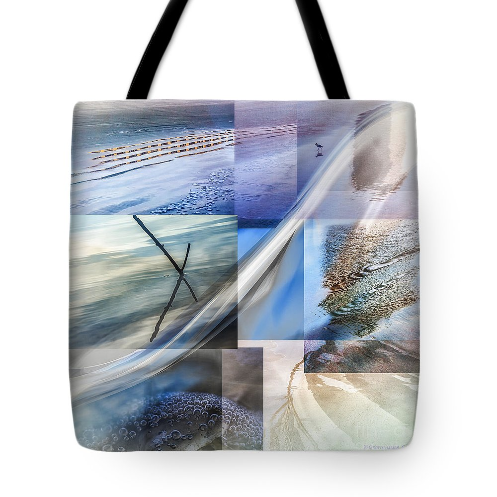 Sea Tote Bag featuring the digital art Sea Water Art by Georgianne Giese